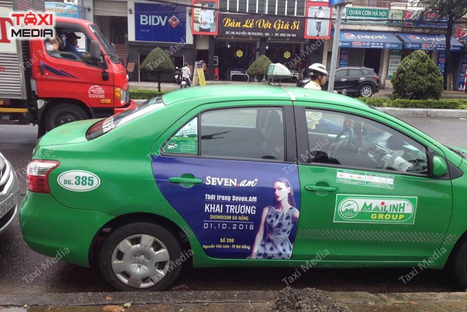 quảng cáo trên taxi Mai Linh tại Đà Nẵng