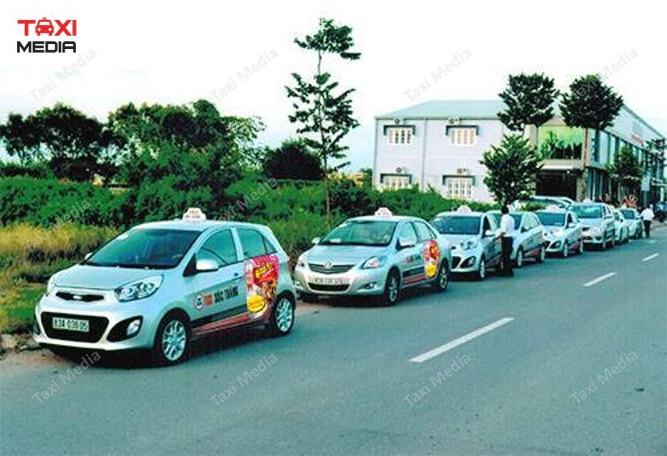 quảng cáo trên taxi tại Sóc Trăng