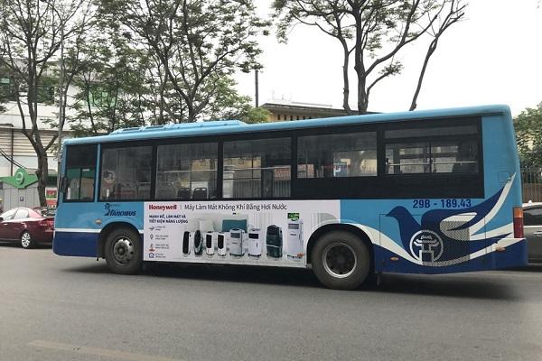honeywell quảng cáo trên xe buýt