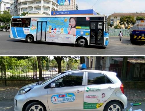 Quảng cáo trên taxi và xe bus: Doanh nghiệp nên chọn hình thức nào?