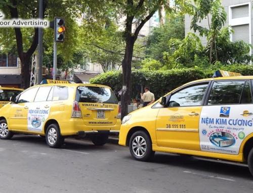 6 tuyệt chiêu thiết kế hình ảnh quảng cáo trên taxi hiệu quả