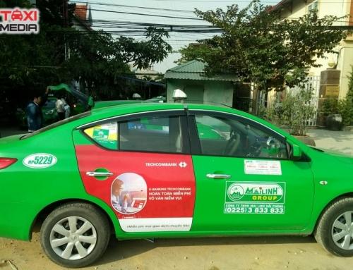 Techcombank quảng cáo trên taxi Mai Linh tại Hà Nội