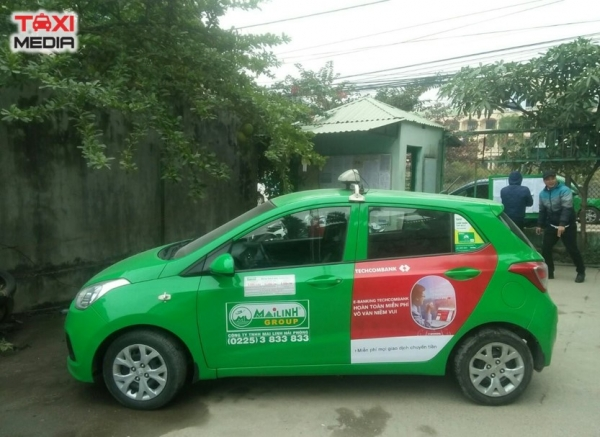 quảng cáo trên taxi Mai Linh ở Hà Nội