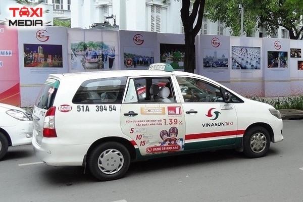 Quảng cáo trên taxi VinaSun tại Hồ Chí Minh và các tỉnh miền Nam