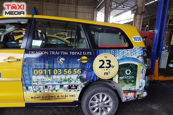 Quảng cáo trên Vina Taxi tại miền Nam