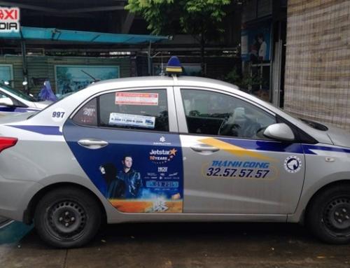 Truyền thông thương hiệu với chiến dịch quảng cáo trên taxi Thành Công