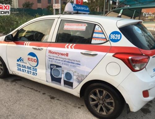 Quảng cáo trên taxi Group đồng hành cùng chiến dịch truyền thông điều hòa Honeywell