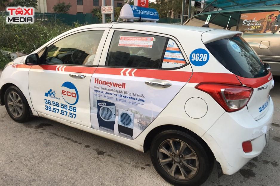 quảng cáo trên taxi Group điều hòa honeywell