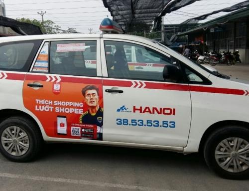"""Shopee bắt """"trend"""" Bùi Tiến Dũng trong chiến dịch quảng cáo trên taxi"""