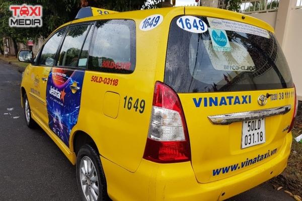 quảng cáo trên xe taxi của Jetstar