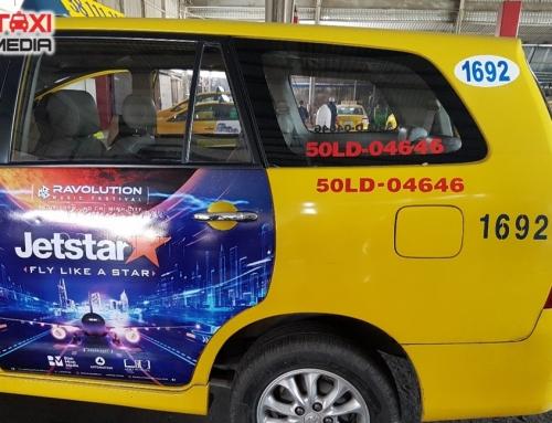 Chiến dịch quảng cáo trên xe taxi của Jetstar tại Hồ Chí Minh