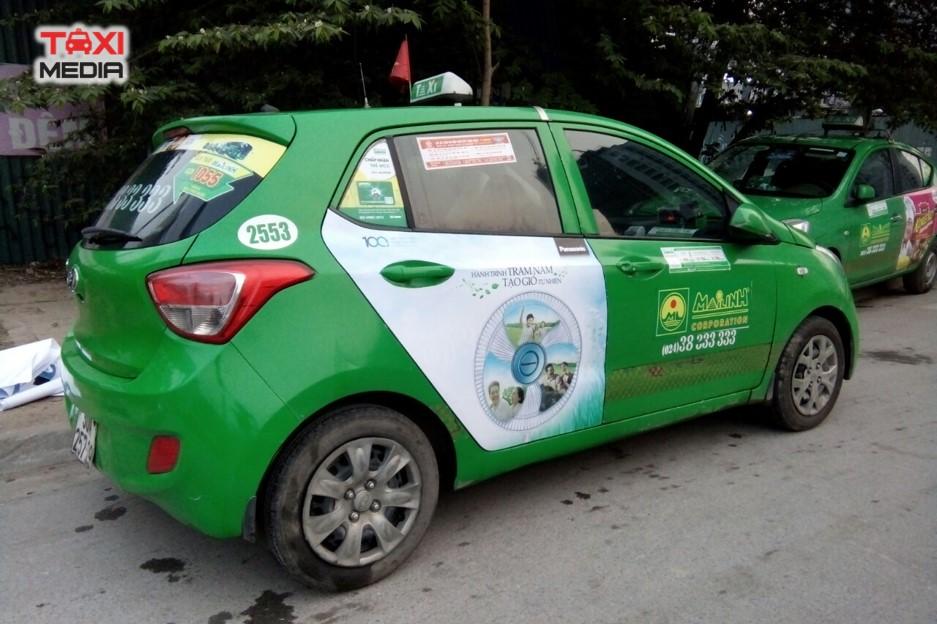 ngành hàng điện tử quảng cáo trên taxi
