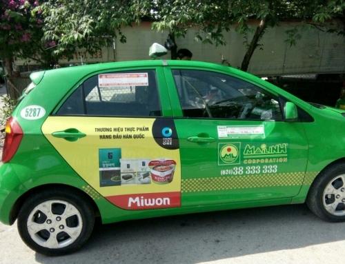Chung Jung One và chiến dịch quảng cáo trên taxi Mai Linh