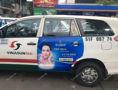 BB Beauté Thanh Mai triển khai quảng cáo trên taxi Vinasun tại HCM