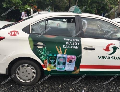Taiwan Beer phủ sóng khắp phố phường với chiến dịch quảng cáo trên taxi Vinasun