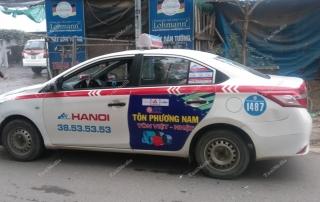 Quảng cáo trên taxi tại Hưng Yên