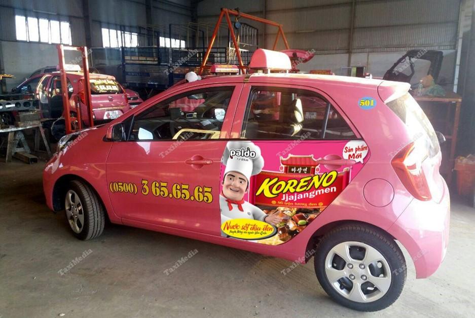 quảng cáo trên taxi tại Tây Nguyên