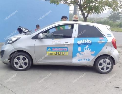 Quảng cáo trên xe taxi tại Nam Định với nhiều sự lựa chọn hiệu quả