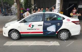 quảng cáo trên taxi tại quảng nam