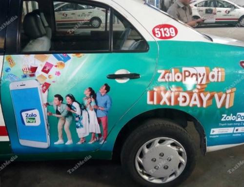 Zalo Pay và chiến dịch quảng cáo trên taxi nhân dịp Tết 2018