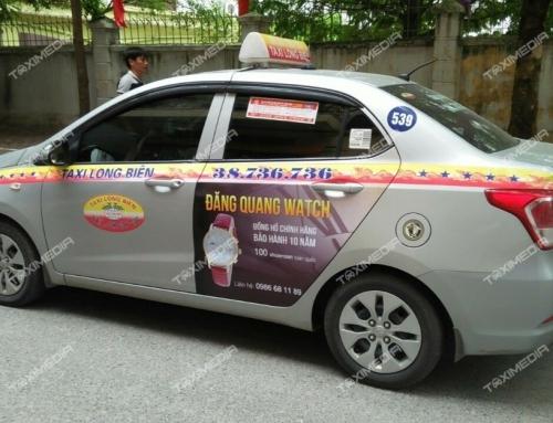 Quảng cáo trên taxi Long Biên – Sự lựa chọn mới của các doanh nghiệp