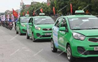 quảng cáo trên taxi tại Hà Tĩnh