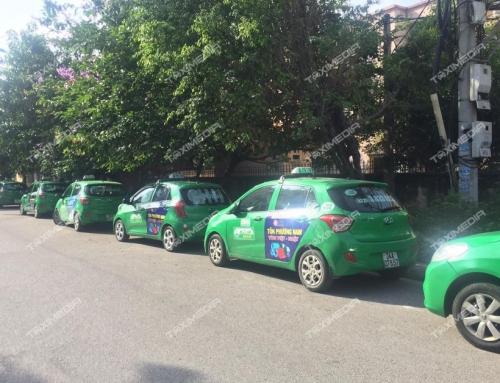 Thu hút trọn mọi ánh nhìn với quảng cáo trên xe taxi tại Hải Dương