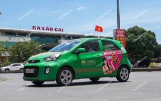 quảng cáo trên taxi tại Lào Cai