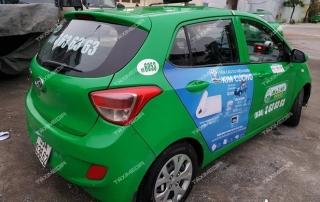 quảng cáo trên taxi tại Ninh Bình