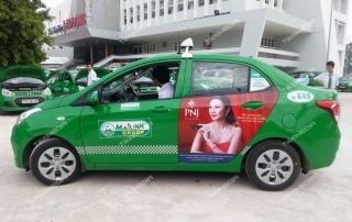 quảng cáo trên taxi tại Quảng Ngãi
