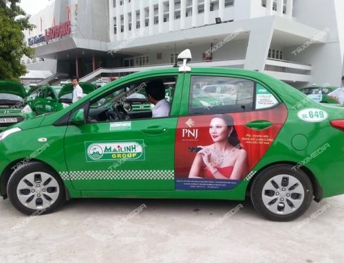 Độc đáo hình thức quảng cáo trên taxi tại tỉnh Quảng Ngãi