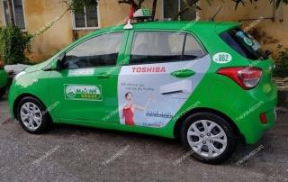 quảng cáo trên taxi tại Thái Bình