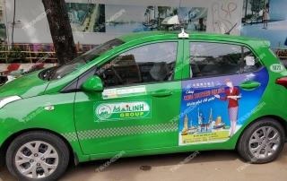 quảng cáo trên xe taxi tại Hà Giang