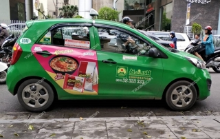 quảng cáo trên taxi tại Tuyên Quang