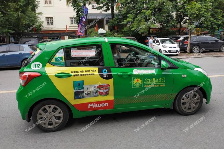 quảng cáo trên taxi tại Yên Bái