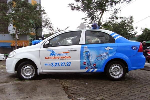 quảng cáo trên taxi Airport Da Nang