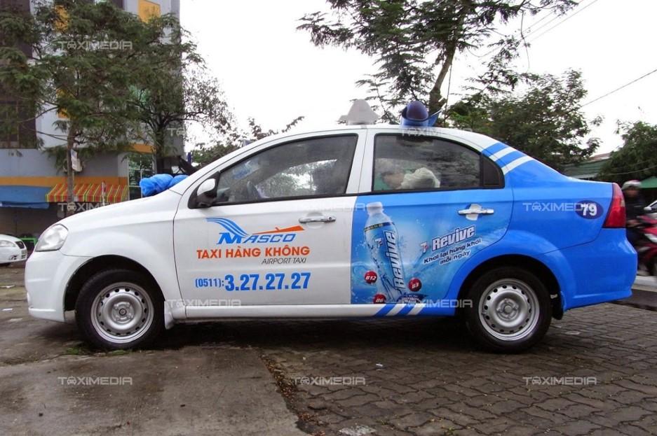 quảng cáo trên taxi hàng không đà nẵng
