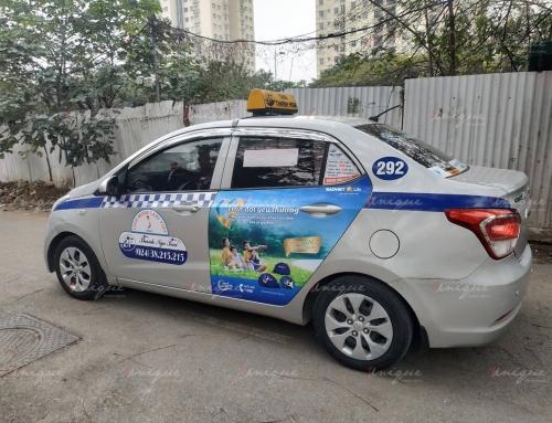 Quảng cáo trên taxi Thanh Nga tại Hà Nội