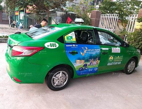 Chiến dịch quảng cáo trên xe taxi của Bảo việt Life trên nhiều tỉnh thành