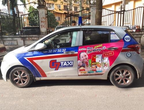 Quảng cáo trên G7 taxi tại Hà Nội và các tỉnh lân cận