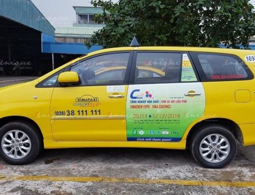 Quảng cáo trên Vinataxi quảng bá chuỗi triển lãm quốc tế tại TP.HCM