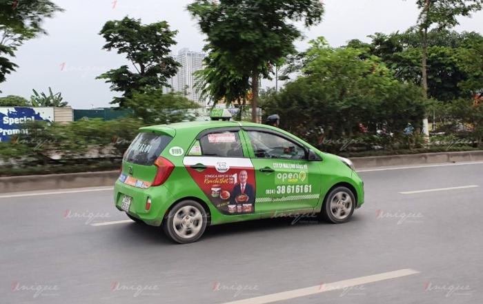 kim chi jongga quảng cáo trên taxi
