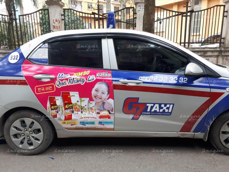 chiến dịch quảng cáo taxi của Koreno nhân dịp Tết Nguyên Đán 2019
