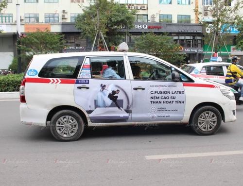Tổng hợp các hãng taxi đã triển khai dán quảng cáo 4 cánh