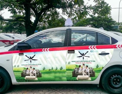 Taxi Group chính thức triển khai dán quảng cáo trên 4 cánh cửa xe