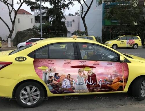 Bước đột phá mới với chiến dịch quảng cáo trên 4 cánh cửa taxi Tiên Sa