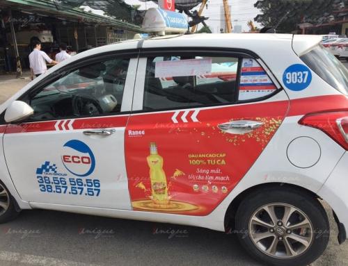 Chiến dịch quảng cáo trên xe taxi cho dầu cá Ranee