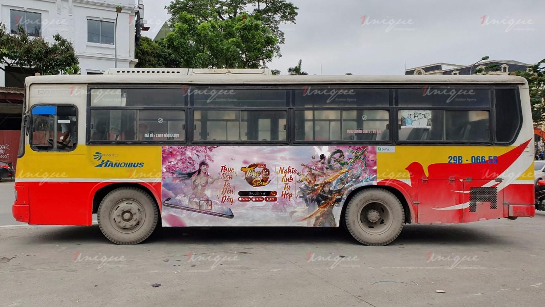quang cáo trên xe buýt taxi cho Thục Sơn Kỳ Hiệp