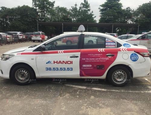 Chiến dịch quảng cáo trên taxi Group quảng bá cho Lotte Finance