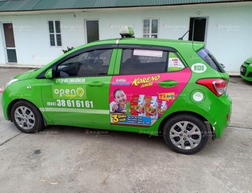 Mỳ Koreno rong biển vị ngao triển khai chiến dịch quảng cáo trên taxi